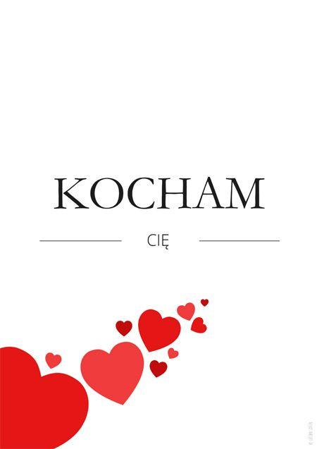 Plakat Na Walentynki Kocham Cie Romantic Love Messages Positive Quotes Love Messages