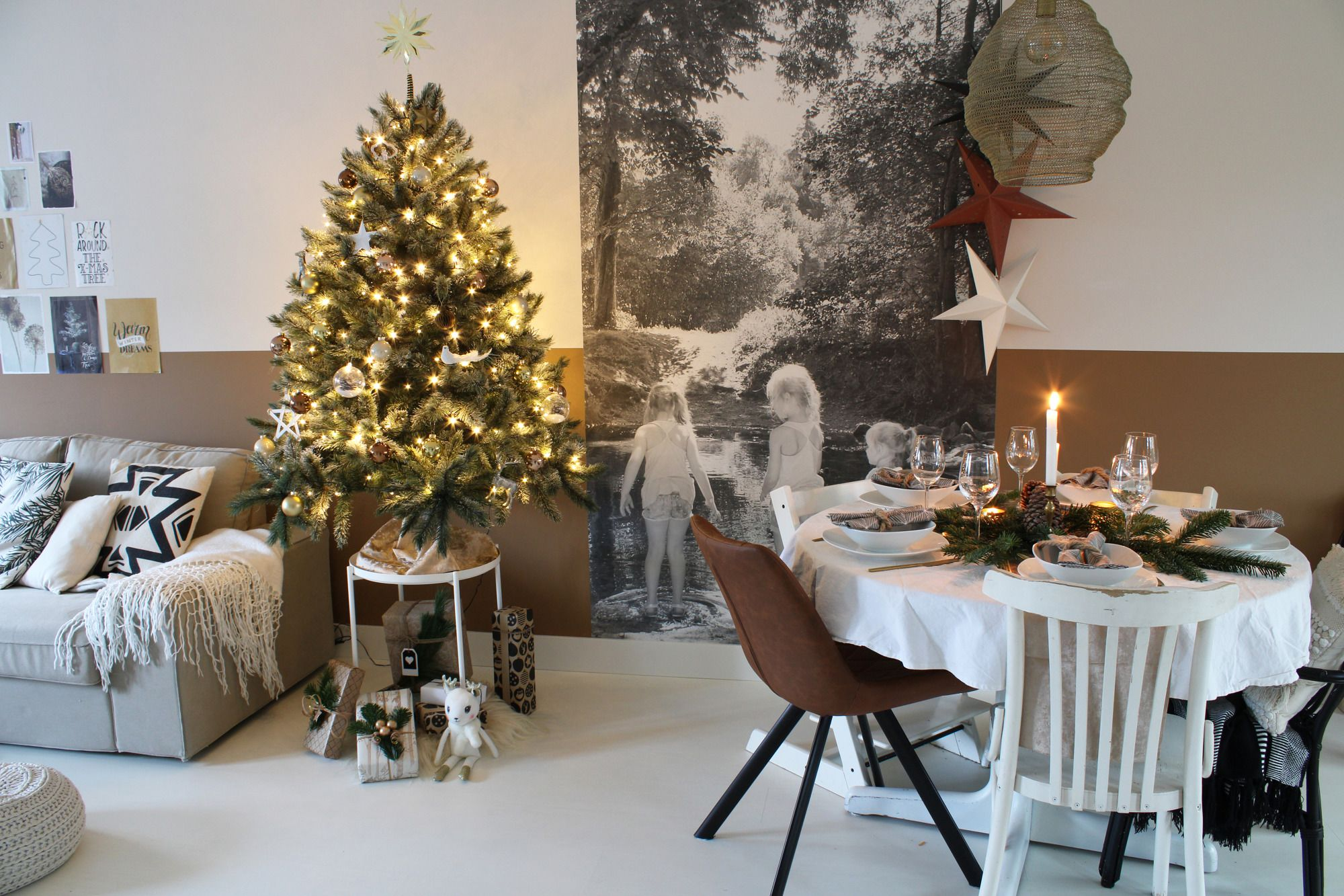 Binnenkijken In Lindy S Warme Industriele Boho Kersthuis Christmaholic Nl Kerstboom Versieringen Kersthuis Tafel Decor