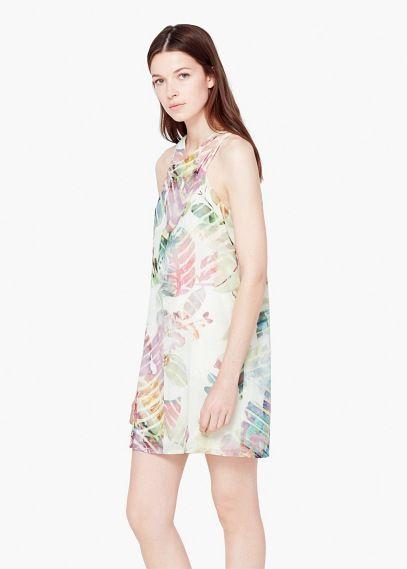 Kleid mit blumendruck | MANGO | Blumendruck kleider ...