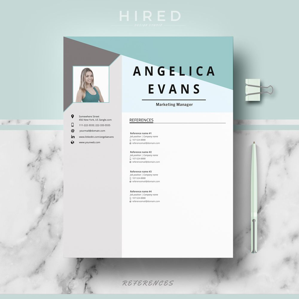 Pin By Hired Design Studio On References For Resume