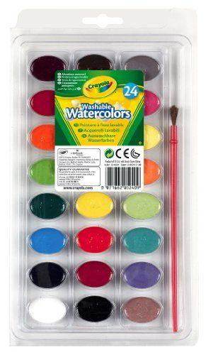Crayola Washable Watercolors 24 Count 53 0524 Crayola Http Www Amazon Com Dp B000gzcbfg Ref Cm Sw R Pi Dp 5iz2 Watercolor Paint Set Crayola Washable Paint