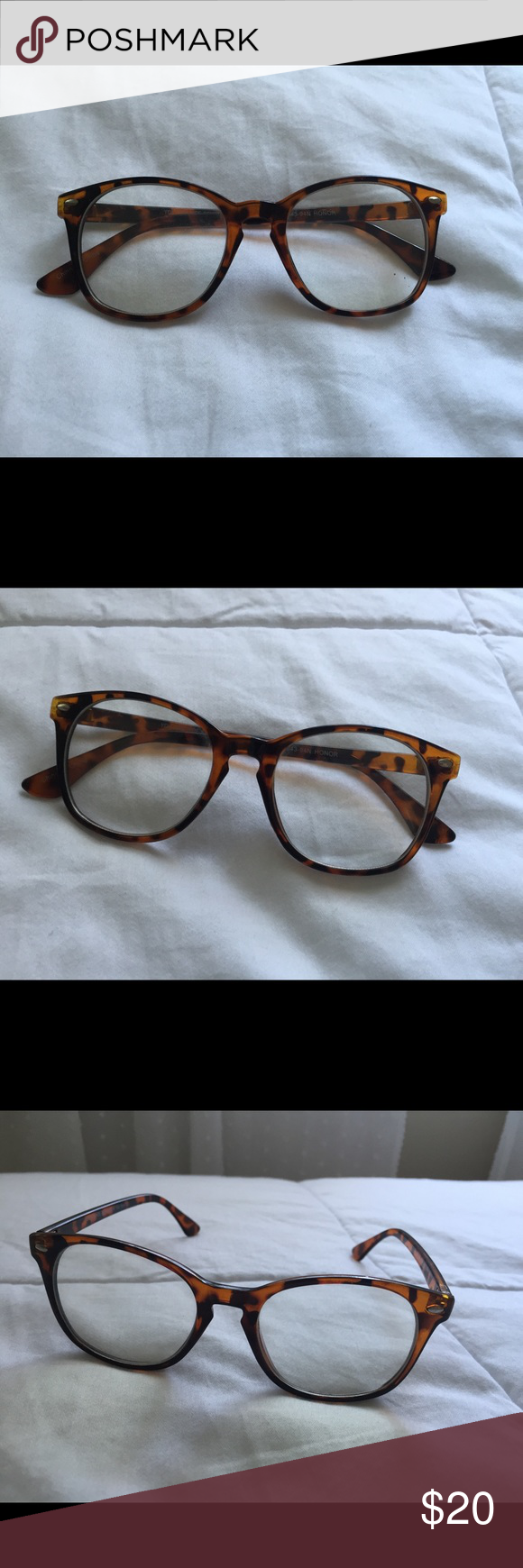 8d6654b21d Urban Outfitters Tortoise Shell Fake Glasses Super cute and trendy! Barely  worn - perfect condition!! Urban Outfitters Accessories Glasses
