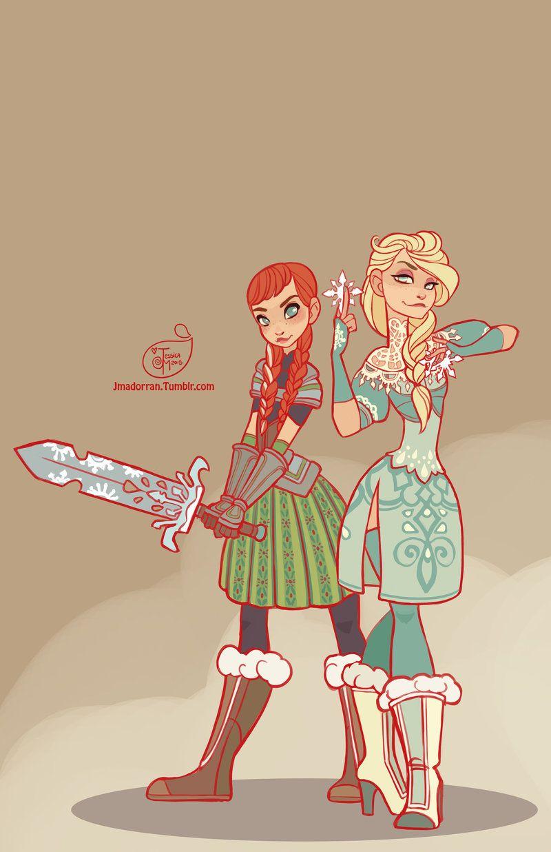Elsa and Anna by Jessica Madorran