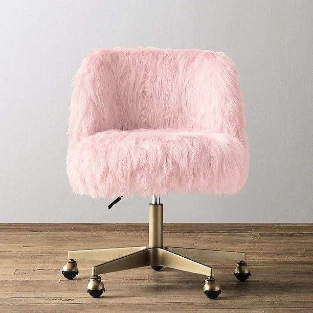 Every Girlboss Should Have This Chair Rh Rhbaby Restorationhardware Girlboss Pink Kroesserstrat Interiord Pink Desk Chair Bedroom Desk Chair Desk Chair