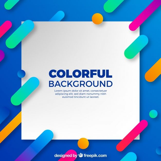 Download Blue Background With Colorful Shapes In Flat Design For Free Creative Web Design Vector Free Web Design Tips