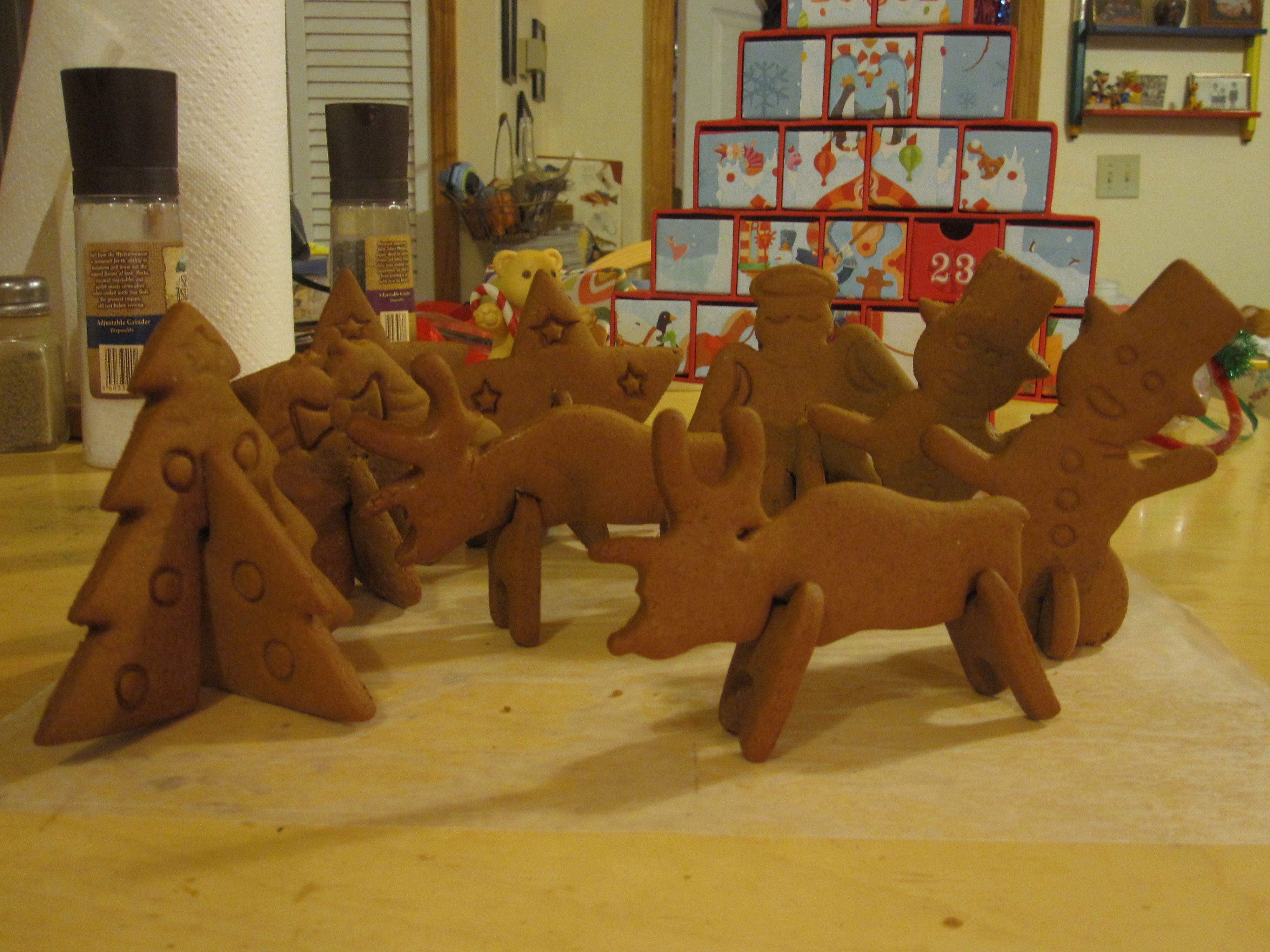 3D Christmas cookies!