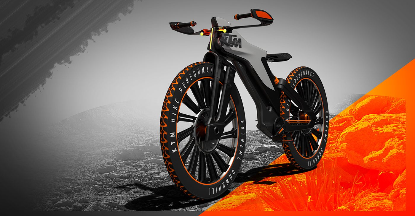 Ktm Downhill Bike On Behance Motorbike Design Electric Bike Bicycles Bicycle Mountain Bike