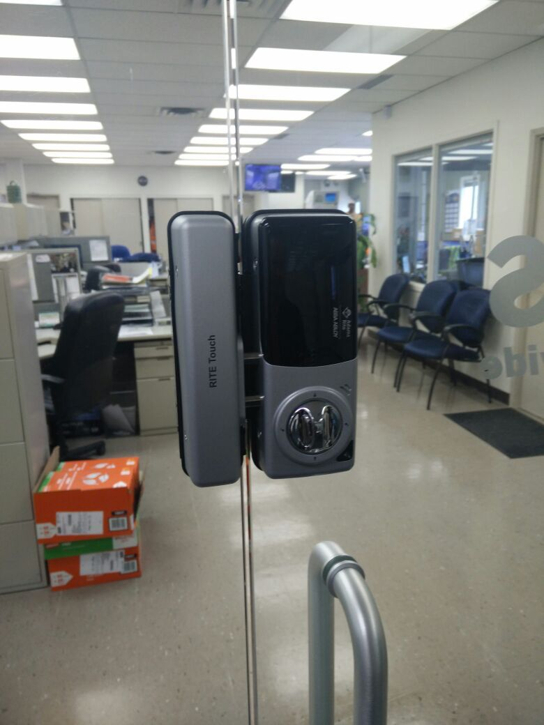 New installation in Toronto of Adam Rite  Rite Touch - Solution for glass door and & New installation in Toronto of Adam Rite : Rite Touch - Solution ...