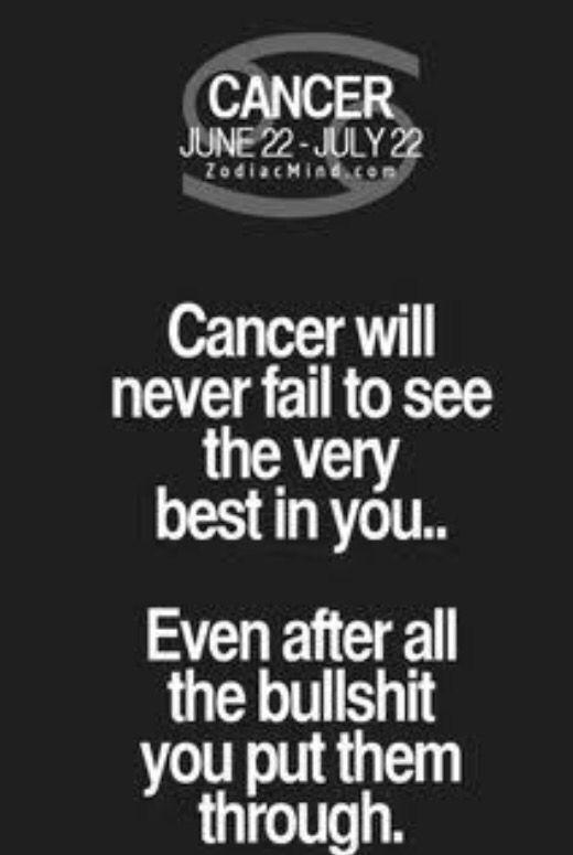 Might be a weakness! | Zodiac | Cancer zodiac facts, Cancer ...