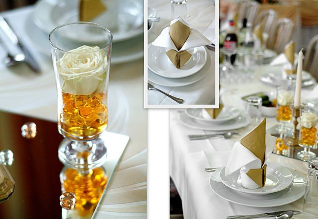 Square Table Decoration For A Reception Wedding Simple Decor Decorations
