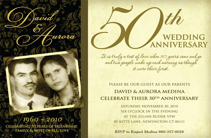 50th Wedding Anniversary Invitation Ideas: 50th Wedding Anniversary Invitation Wording Ideas Wedding