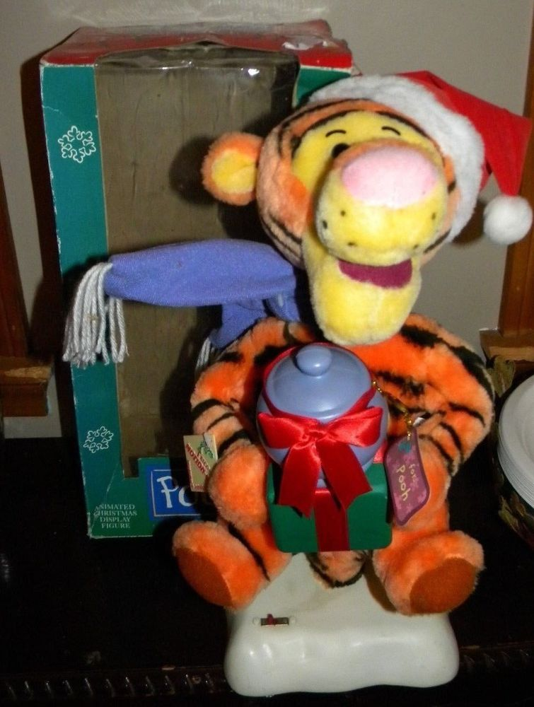 TELCO CHRISTMAS ANIMATED Disney WINNIE THE POOH TIGGER TIGER FIGURE MOTIONETTE