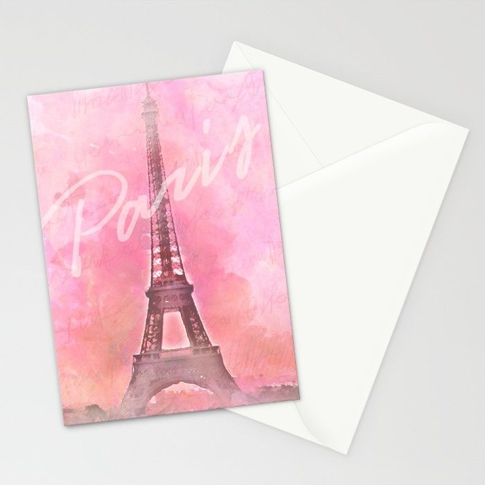 Paris City - Eiffel Tower Stationery Cards by ... on Clare View Beige Outdoor Living Room id=36405