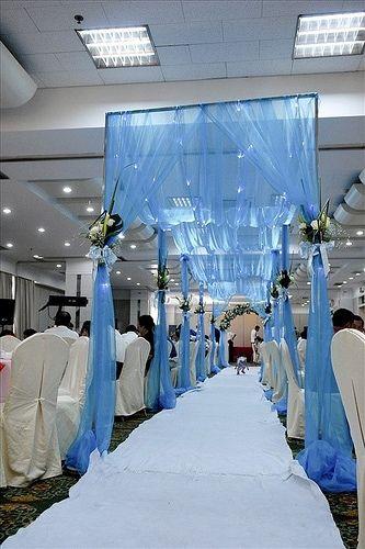 Black White Silver Royal Blue Wedding Theme