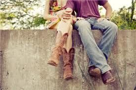 Cowgirl and cowboy love
