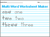 Amazing Handwriting Worksheet Maker. Type what you want ...