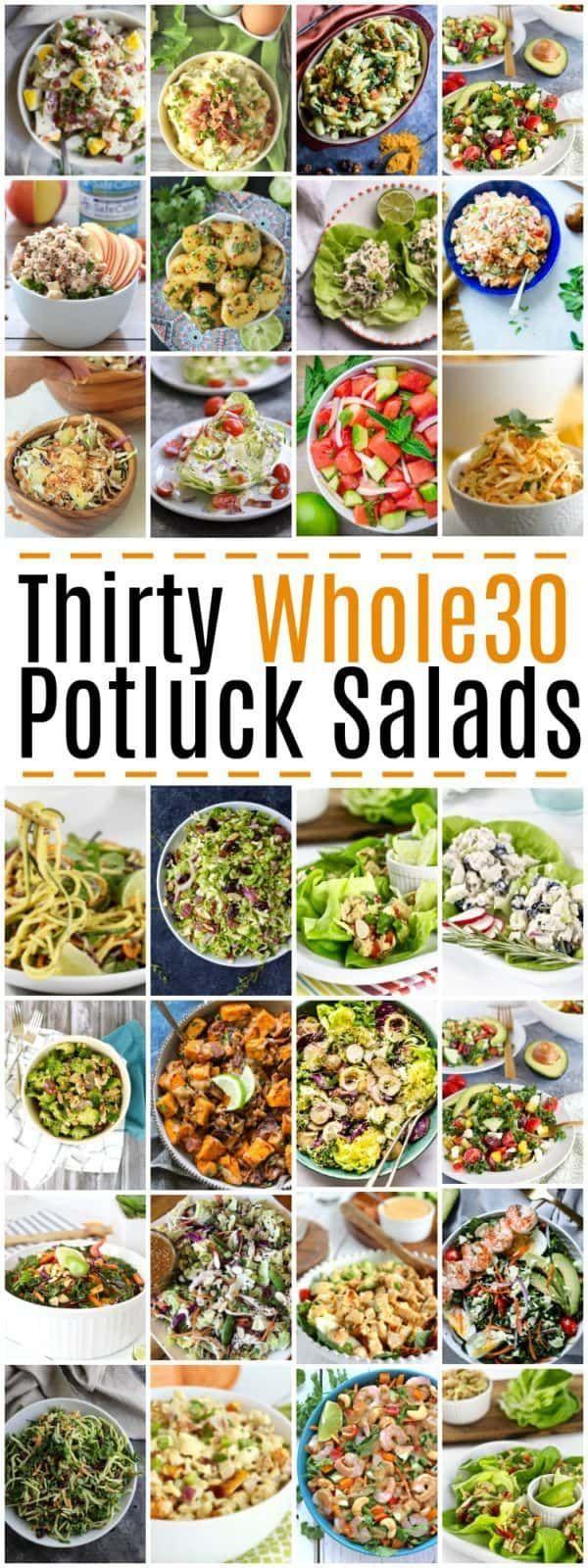 30 Whole30 Potluck Salads #potluck #salads #whole30 #healthyrecipes