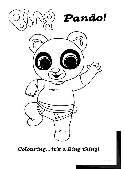 Bing lineart pando Bing Bunny