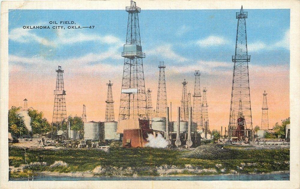 Oklahoma City OK~Oil Field Derricks & Tankers~Westgate Corey