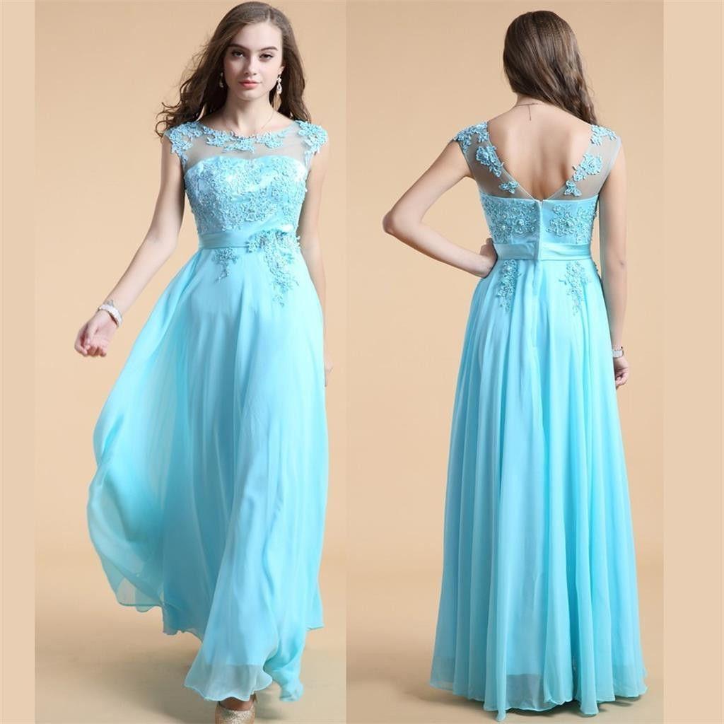 Blue prom dressaline prom dresspretty dress cheap prom dress