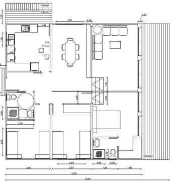 Resultado de imagen para casas de madera peque as con for Planos de casas de madera