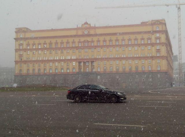 Снег 19 апреля 2015, Лубянка