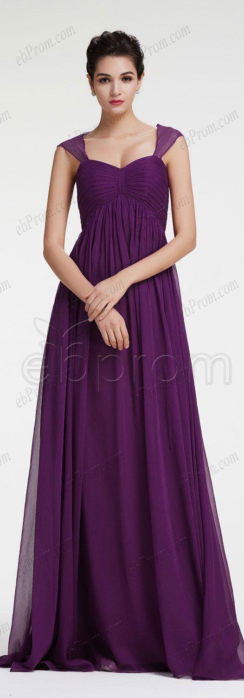 Dark purple mix and match bridesmaid dress empire waist | Casamiento ...