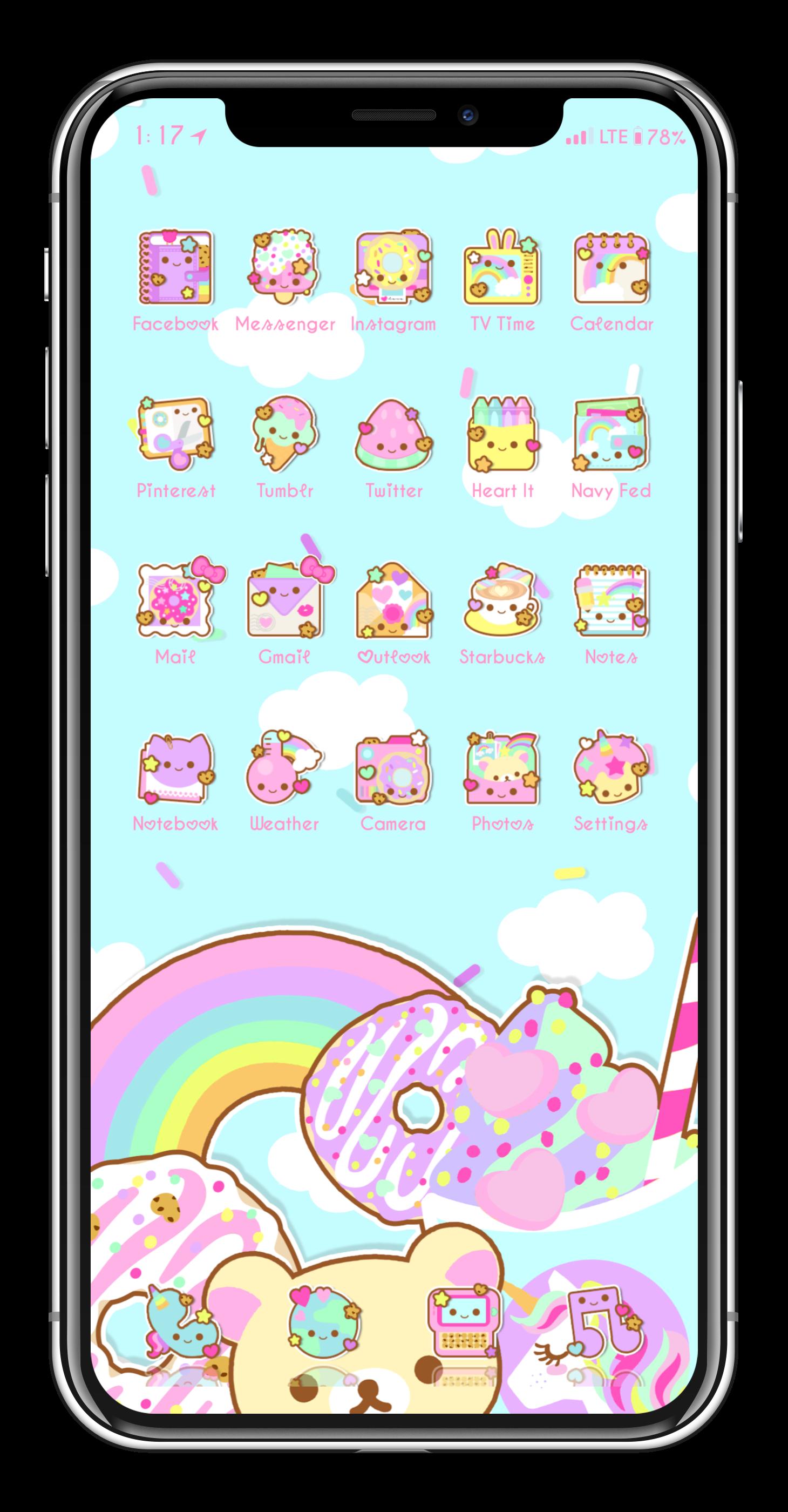 Iphone X Screen Running On Ios 11 4 Beta 3 Jailbreak Phone Themes Aesthetic Iphone Wallpaper Cute Kawaii Drawings