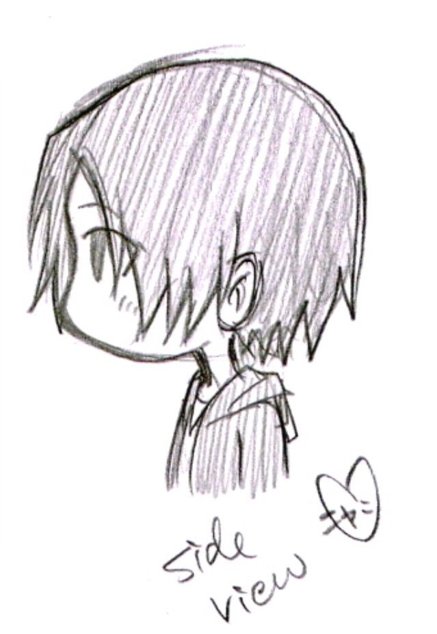 Pin By Keiko On Cute Cute Stuff 3 Chibi Hair Anime Side View Side View Drawing