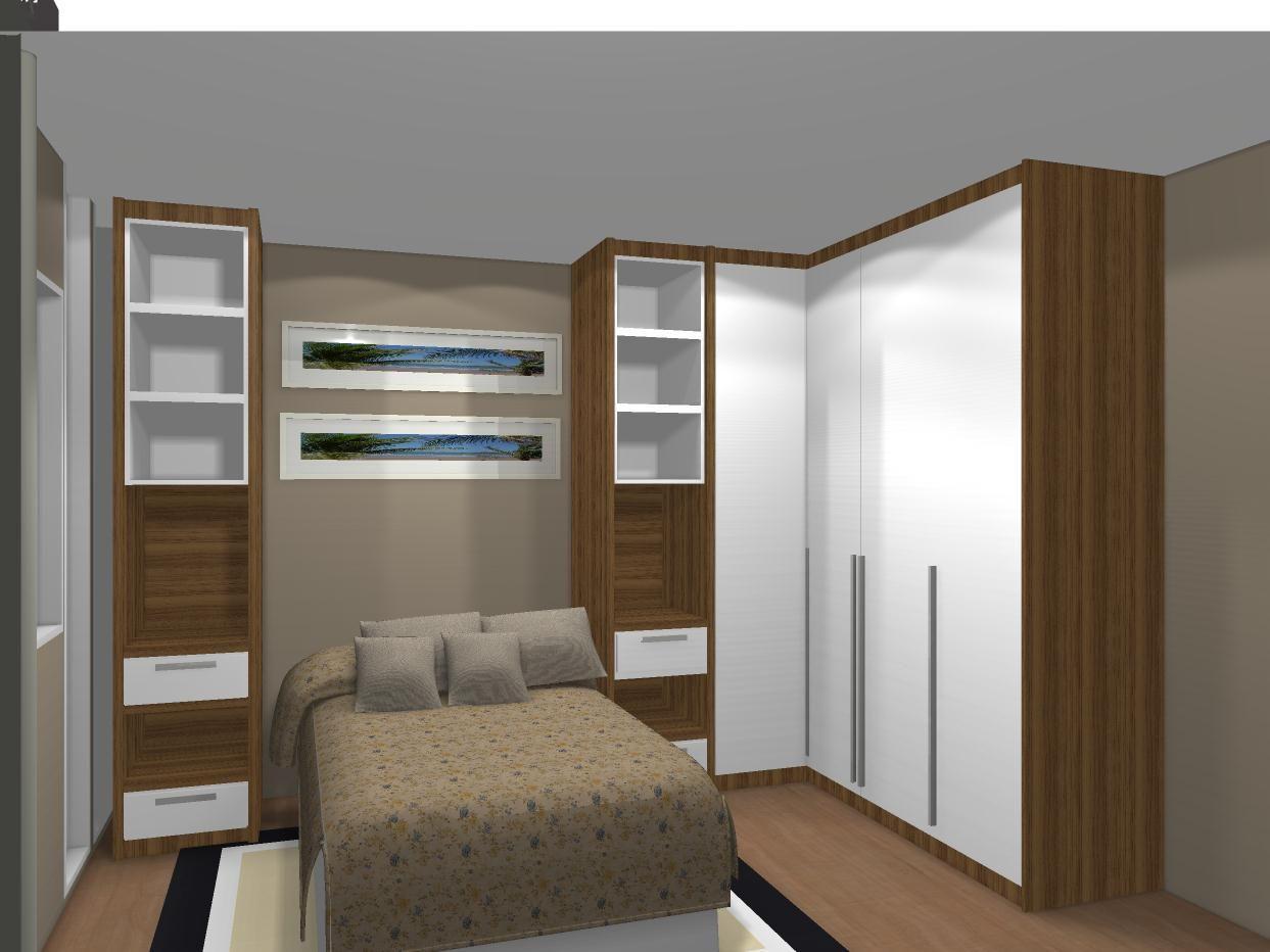 Quarto Em L Quarto De Apartamento Pinterest Quartos Quartos  ~ Quarto De Solteiro Planejado Para Apartamento Pequeno