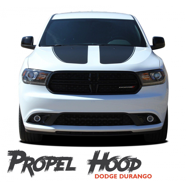 Dodge Durango Propel Hood Dual Double Stripes Decals Vinyl Graphics