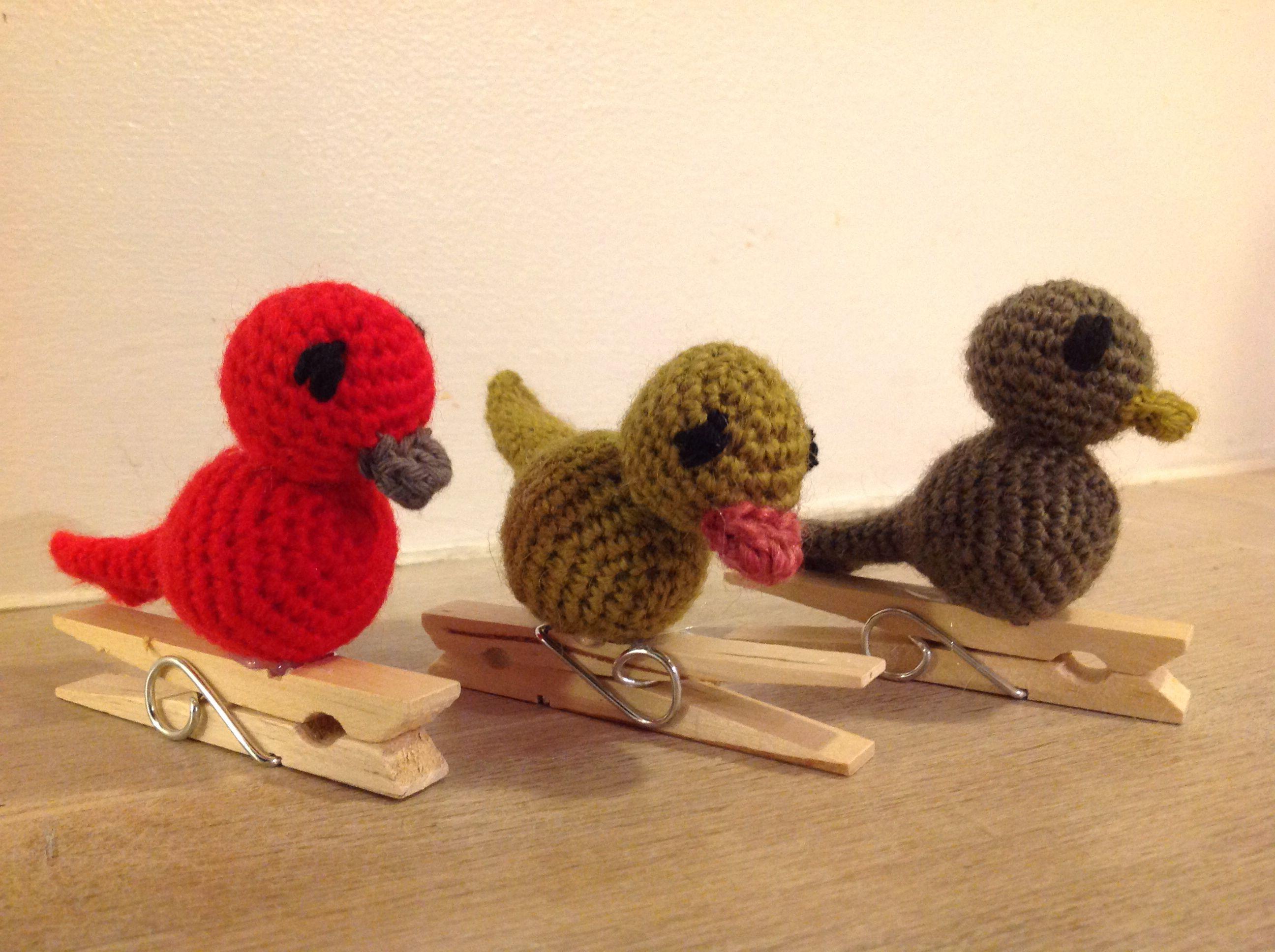 De sødeste hæklede fugle...