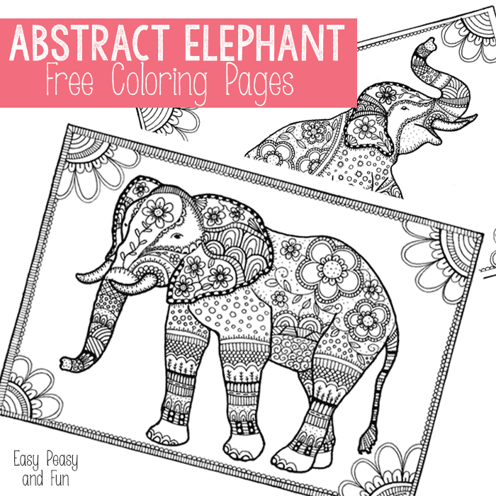 free elephant coloring pages for adults easy peasy - Coloring Pictures Free