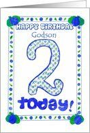 2nd Birthday Card for a Godson Card by Greeting Card Universe. $3.00. 5 x 7 inch premium quality folded paper greeting card. Birthday cards & photo Birthday cards from Greeting Card Universe will bring a smile to your loved ones' face. Make your loved ones feel special with a custom paper card. Turn to Greeting Card Universe for all your birthday card needs. This paper card includes the following themes: birthday, 2, and 2nd. Greeting Card Universe has the biggest se...