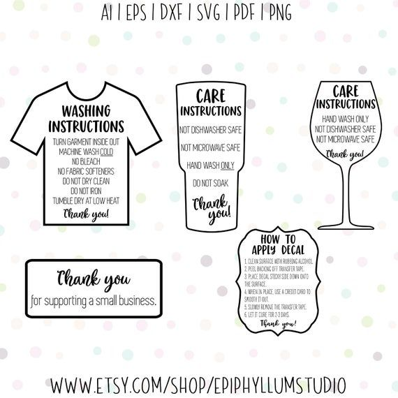 Tumbler Care Card Svg Washing Instruction Svg Care Etsy In 2021 Cricut Projects Beginner Cricut Projects Vinyl Cricut Projects