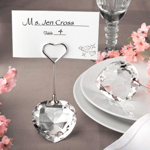 Tischkartenhalter Kristallherz Tischdeko Fur Die Hochzeit