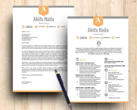 diy google docs printable resume and cover letter by digidigi