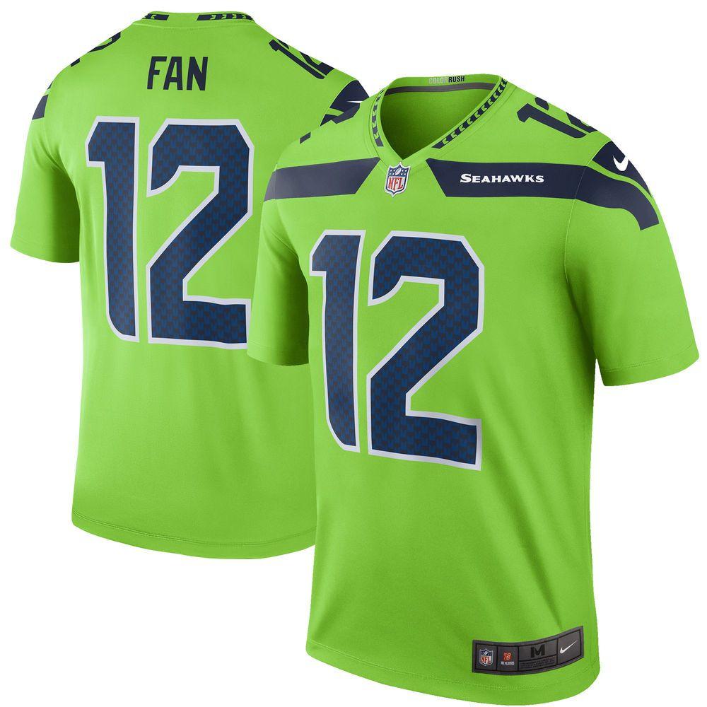 Men S Seattle Seahawks 12 Fan Nike Green Color Rush Legend Jersey Seahawks Seahawks Color Rush Seattle Seahawks
