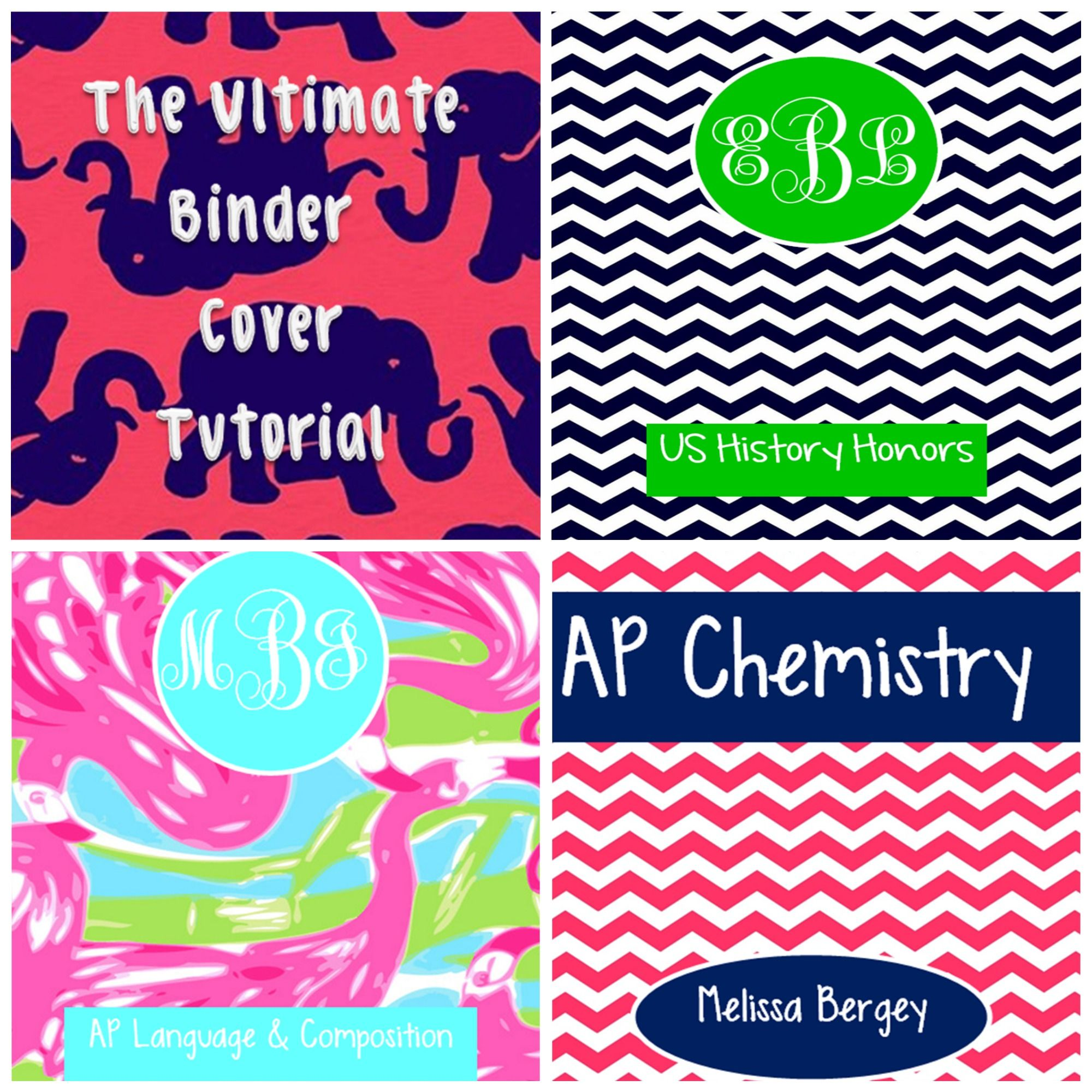 The BEST Binder Cover Tutorials!