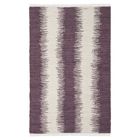 Hand Woven Cotton Rug In Purple Made In India Product