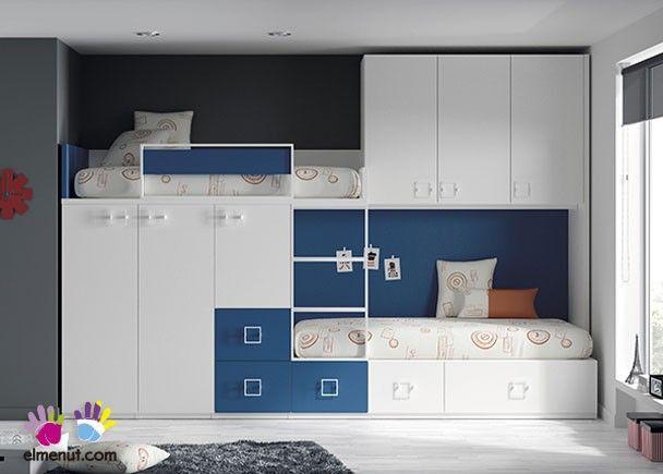 Habitaci n infantil con camas tipo tren armario - Habitacion infantil tren ...