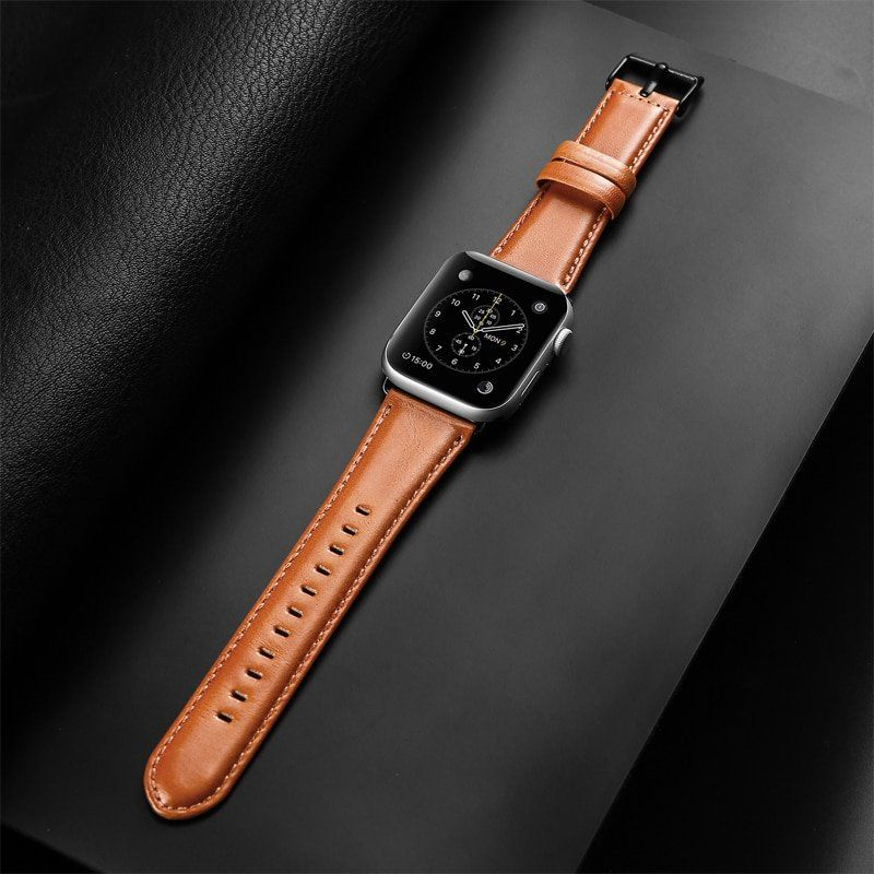 High Quality Leather Strap 44mm 40mm 42mm 38mm High Quality Leather Leather Leather Straps
