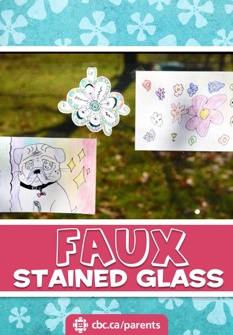 Decorate windows with this super-simple activity: make faux stained glass with paper and oil.