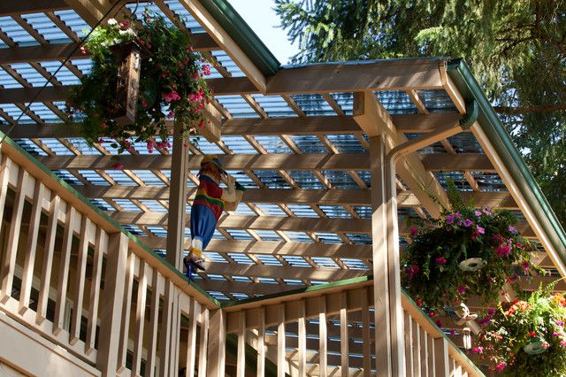 Clear Corrugated Roof Panels Give Us A Clear View To The Sky: Gorgeous  Skylift Patio