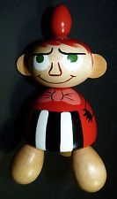ARABIA FINLAND MOOMIN WOODEN FIGURE 'LITTLE MY' HTF VERY RARE w/leather Tag