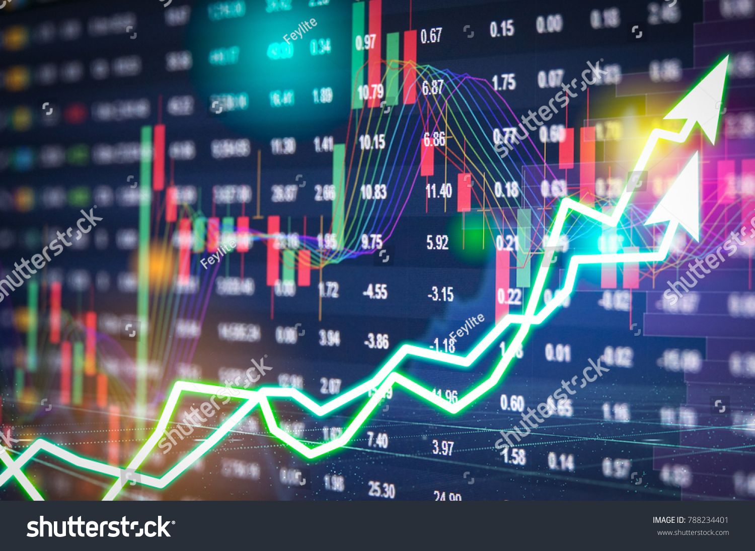 Stock Market Digital Graph Chart On Led Display Concept A Large Display Of Daily Stock Market Price And Quotation Indi Digital Marketing Stock Market Digital