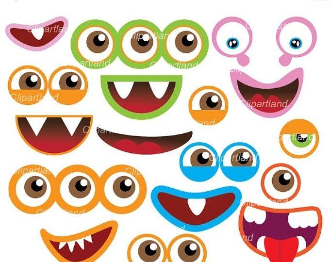Monster Eyes Cute Printable Birthday Party Favors  Printable