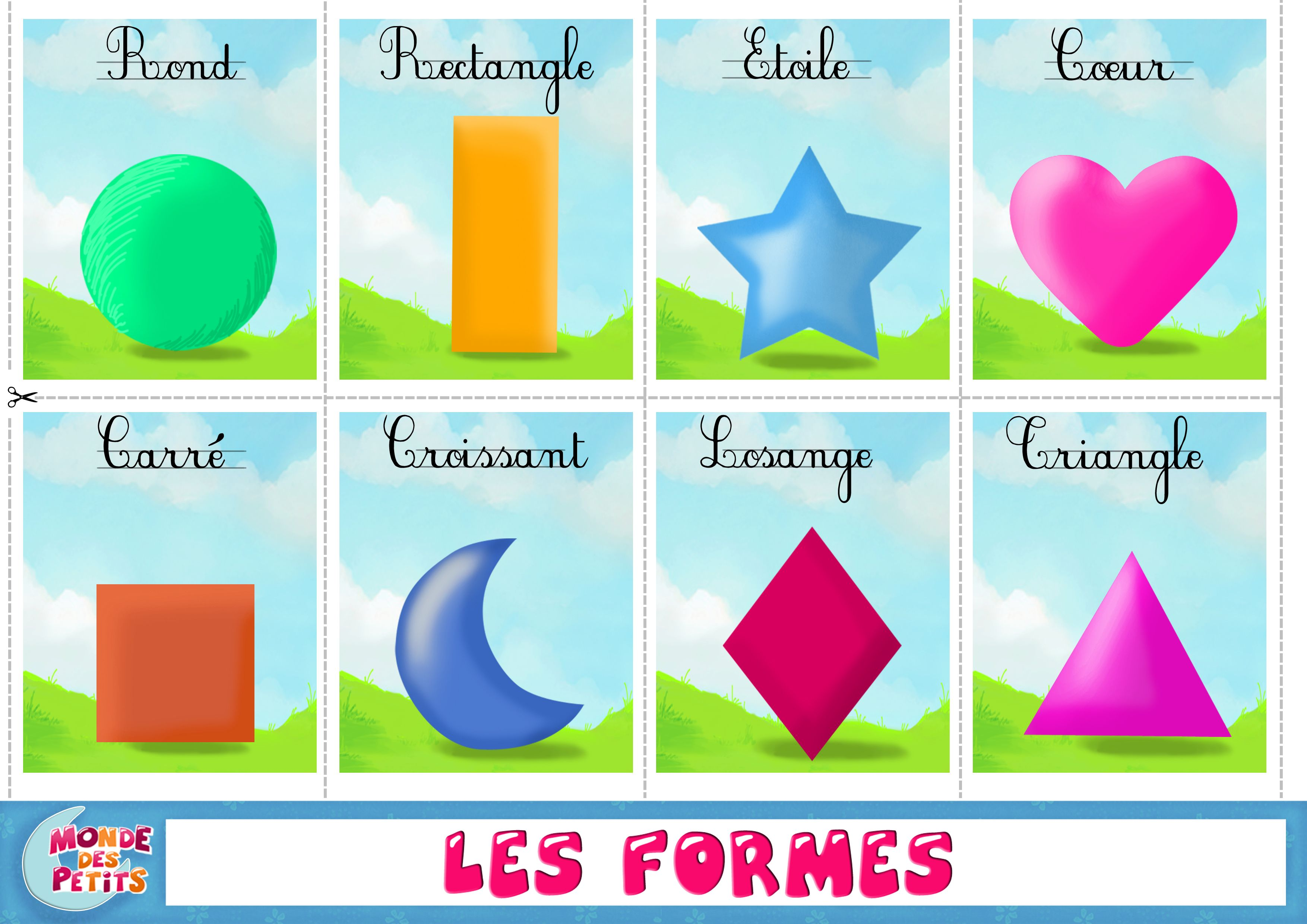 Apprendre les formes en francais | Apprendre l'anglais, Activités ...