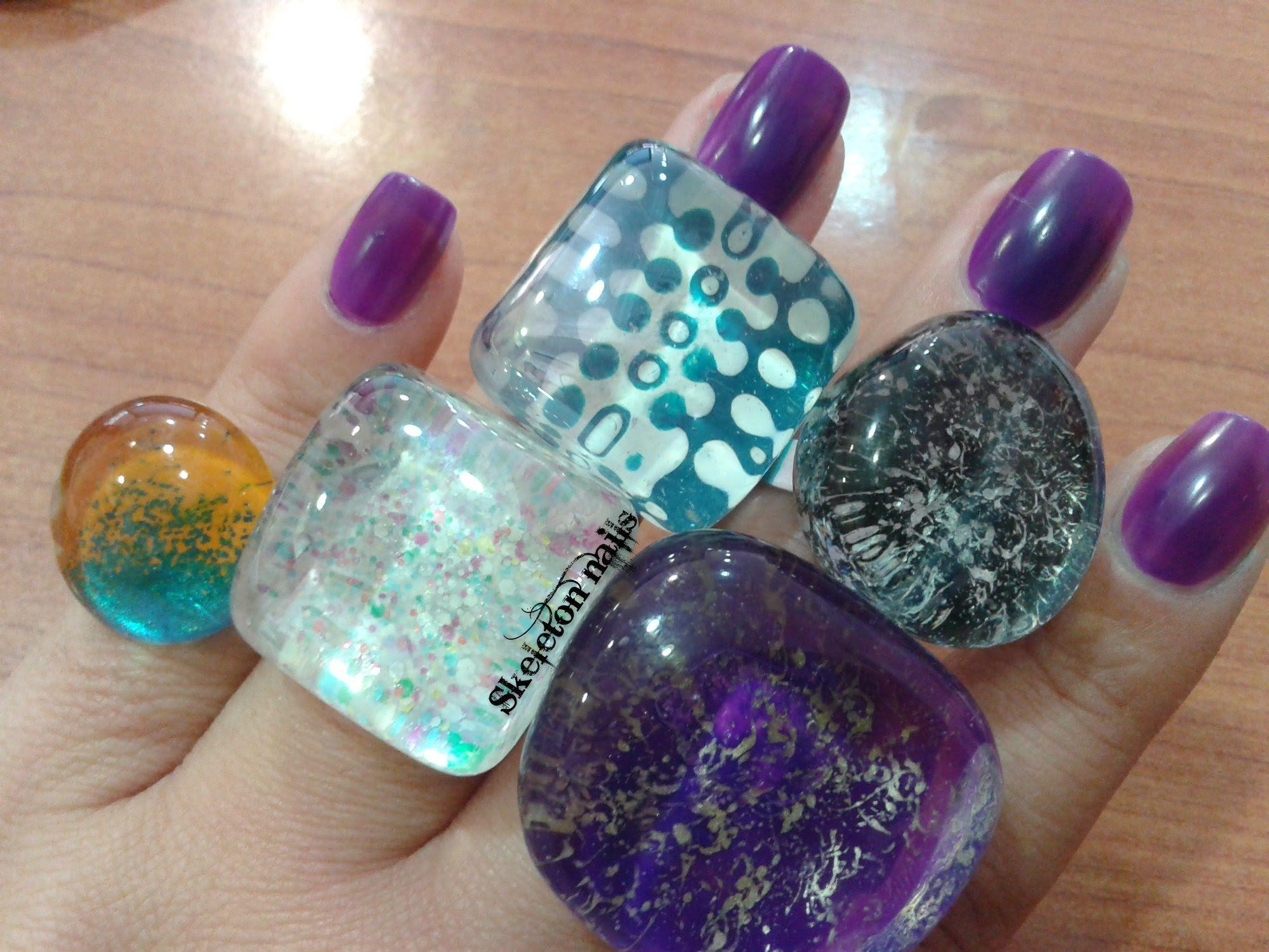DIY: Crea tus anillos con laca de uñas/Create your rings with nail polish