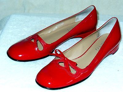 Franco Sarto Dressy Red Patent Leather Slip-ons-size 9 M- Great Sarto quality!